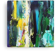 stripe yellow aqua Canvas Print