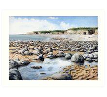 Towards Atlantic College, Glamorgan Coast, South Wales. Art Print