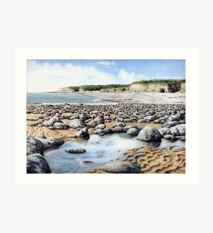 Towards Atlantic College, Glamorgan Coast, South Wales. Art Print