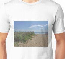 beach fence in misquamicut Unisex T-Shirt