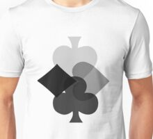 Lucky Gambling Suite of Cards  Unisex T-Shirt