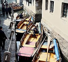 Row of boats by junkgirl