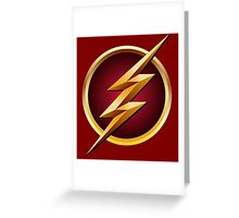 the flash tv symbol Greeting Card