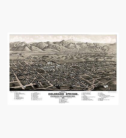 Colorado Springs - Colorado - 1882 Photographic Print