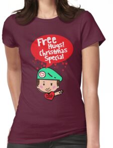 Free Hugs! Christmas Special Womens Fitted T-Shirt