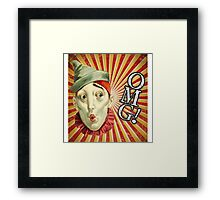 OMG! Clown (With Background) Framed Print