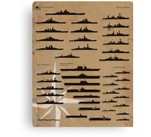 WW2 American Fleet Canvas Print