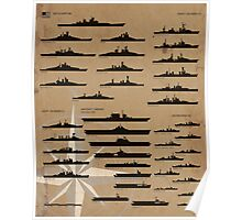 WW2 American Fleet Poster