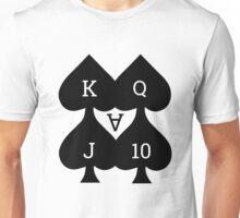 Lucky Spades Royal Flush Card Deck Unisex T-Shirt