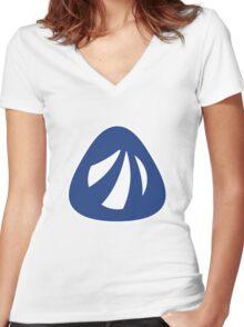 Antergos Linux Logo Women's Fitted V-Neck T-Shirt