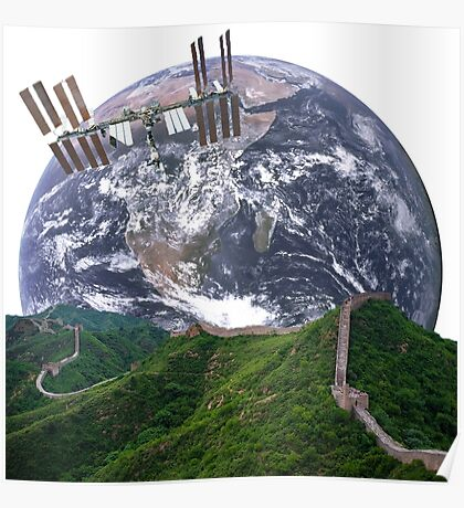 Parallax Great Wall From Space Poster