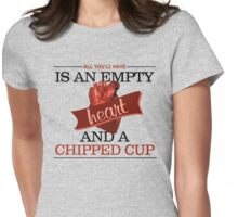 Empty Heart Womens Fitted T-Shirt