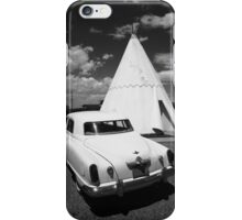 Route 66 Wigwam Motel and Classic Car iPhone Case/Skin