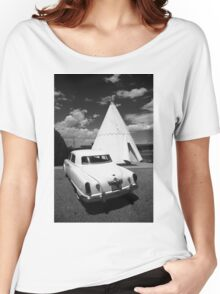 Route 66 Wigwam Motel and Classic Car Women's Relaxed Fit T-Shirt