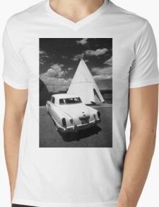 Route 66 Wigwam Motel and Classic Car Mens V-Neck T-Shirt