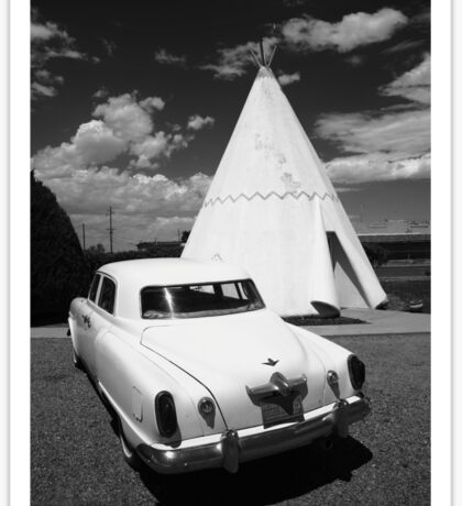 Route 66 Wigwam Motel and Classic Car Sticker