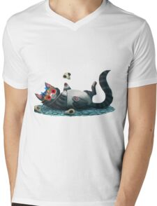 Shakespearean Cat's Hamlet Mens V-Neck T-Shirt