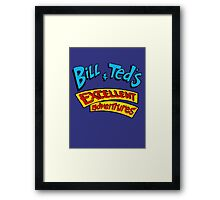 Bill and Ted - Logo Framed Print