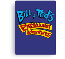 Bill and Ted - Logo Canvas Print