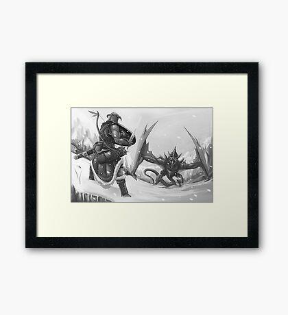 The Elder Scroll  Framed Print
