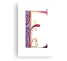 The Letter E Canvas Print
