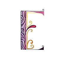 The Letter E Photographic Print