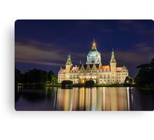 City Hall of Hannover by night Canvas Print