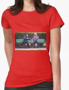 Conversation In The Park Womens Fitted T-Shirt