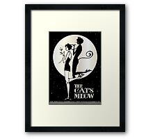 Gatsby Girl Flapper The Cat's Meow (black, silver & pearl) Framed Print