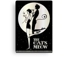 Gatsby Girl Flapper The Cat's Meow (black, silver & pearl) Canvas Print