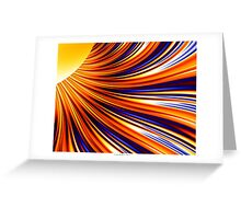 Color & Form Abstract - Solar Gravity & Magnetism 3 Greeting Card