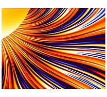 Color & Form Abstract - Solar Gravity & Magnetism 3 Photographic Print
