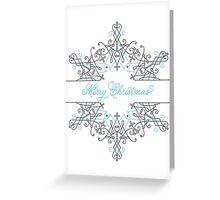 Christmas Snowflake Jewel Greeting Card