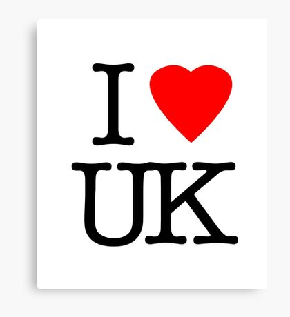 I Love United Kingdom - I Heart UK Canvas Print