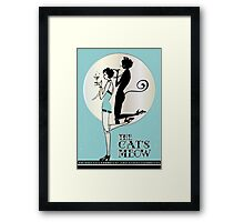 Gatsby Girl Flapper The Cat's Meow (blue and silver) Framed Print