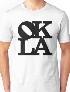 OKLA Black and White Unisex T-Shirt