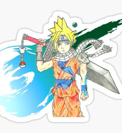 Cloud Anime Mash Up Sticker