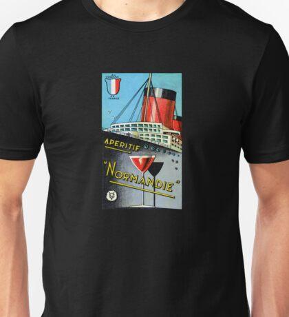 1930 French Apertif Normandie Unisex T-Shirt