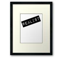 Realist Label  Framed Print