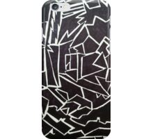 Edgy Black and White Design  iPhone Case/Skin