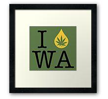I Dab WA (Washington) Framed Print