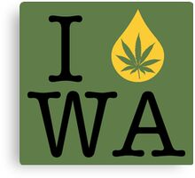I Dab WA (Washington) Canvas Print
