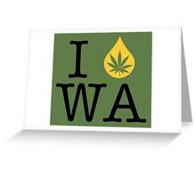 I Dab WA (Washington) Greeting Card