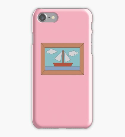Simpson's Boat Picture (framed) iPhone Case/Skin