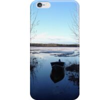 Cold Blue Spring Day iPhone Case/Skin