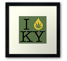 I Dab KY (Kentucky) Framed Print