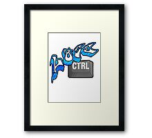 Lose Ctrl (blue) Framed Print