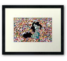Dark Pinkie Sprinkles Design Framed Print