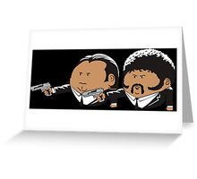 Vector Pulp Fiction Greeting Card