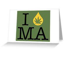 I Dab MA (Massachusetts) Greeting Card